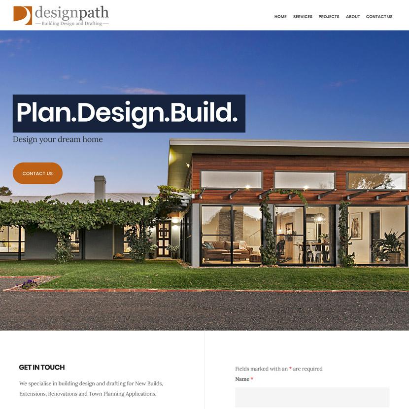 Snapshot of Design Path Homepage, Website Design and Work by Inkt Creative Bendigo