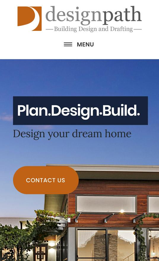 Snapshot of Design Path Website Design, Work by Inkt Creative, Bendigo